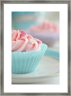 Close Up Of Cupcakes Framed Print by Dhmig Photography