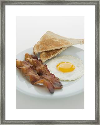 Close Up Of English Breakfast, Studio Shot Framed Print
