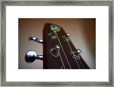 Close-up Of Guitar Framed Print