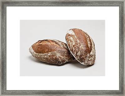 Close Up Of Loaves Of Bread Framed Print by Henn Photography