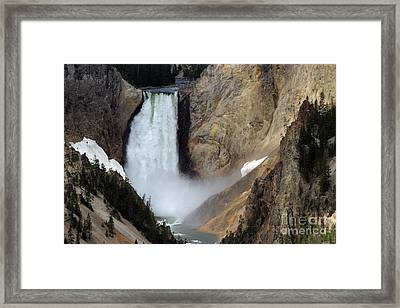 Framed Print featuring the photograph Close Up Of Lower Falls by Living Color Photography Lorraine Lynch