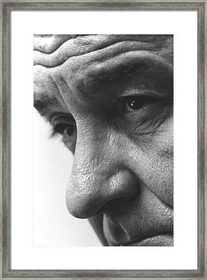 Close Up Of President Lyndon Johnson Framed Print by Everett