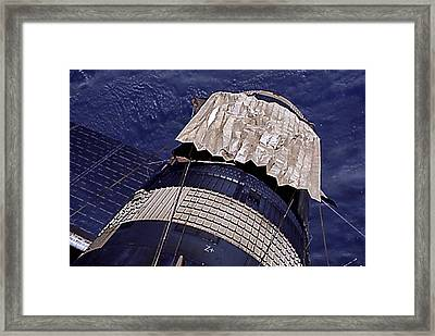 Close-up Of The Emergency Gold Parasol Framed Print by Everett