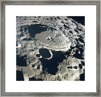 Close-up Of The Surface Of The Moon Framed Print by Stockbyte