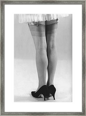 Close-up Of Woman's Legs Framed Print by George Marks