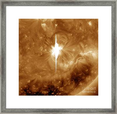 Close-up View Of A Massive X2.2 Solar Framed Print by Stocktrek Images
