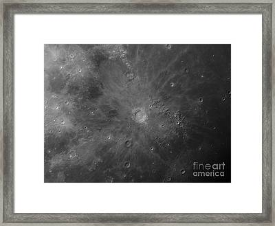 Close-up View Of Copernicus, An Impact Framed Print by Rolf Geissinger