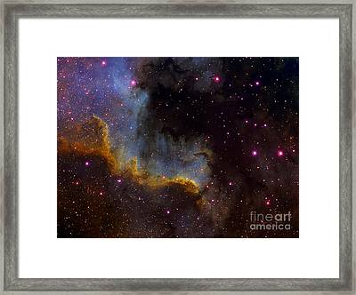 Close-up View Of North America Nebula Framed Print by Filipe Alves