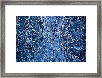 Close-up Waterfall Framed Print by Sindre Ellingsen