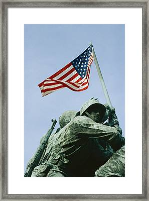 Close View Of Iwo Jima Framed Print by Stephen St. John