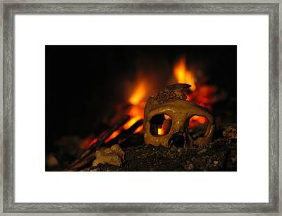 Close View Of The Skull Of A Neandertal Framed Print