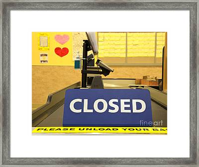 Closed Checkout Aisle Framed Print