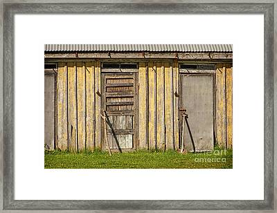 Closed Doors Framed Print