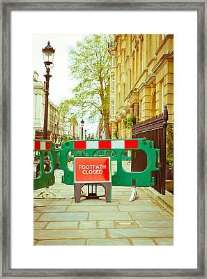 Closed Footpath Framed Print by Tom Gowanlock