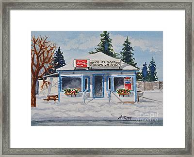 Closed For Season Framed Print by Andrea Timm