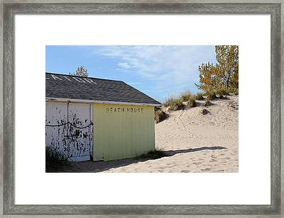Closed For The Season Framed Print by Sheryl Burns