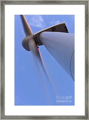 Closeup Of A Wind Turbine Framed Print by Jeremy Woodhouse