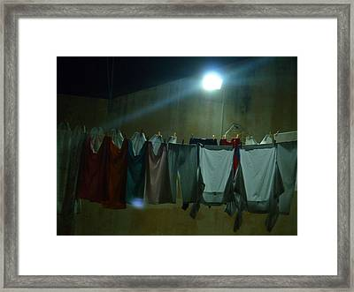 Framed Print featuring the photograph Clothes 1 by Beto Machado