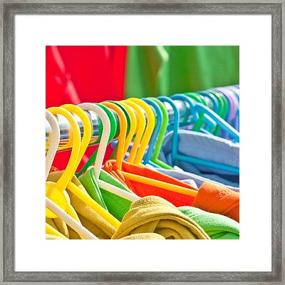 Clothes Hanging Framed Print by Tom Gowanlock