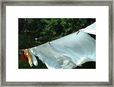 Framed Print featuring the photograph Clothes Line by Peg Toliver