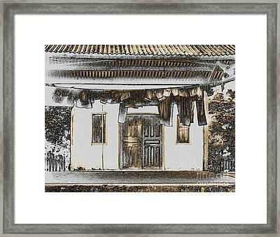 Clothes On The Line. Framed Print