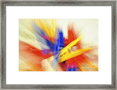 Clothes Peg Abstraction Framed Print by Martin Dzurjanik