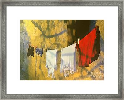 Clothing Framed Print by Odon Czintos