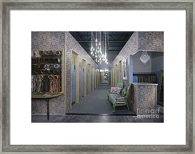 Clothing Store Framed Print by Robert Pisano