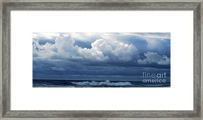 Framed Print featuring the photograph Cloud Bank by Linda Mesibov