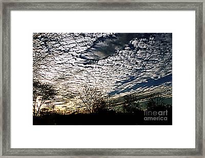 Cloud Blanket Sunset Framed Print