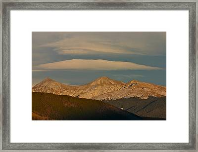 Cloud Cap Framed Print by Bob Berwyn