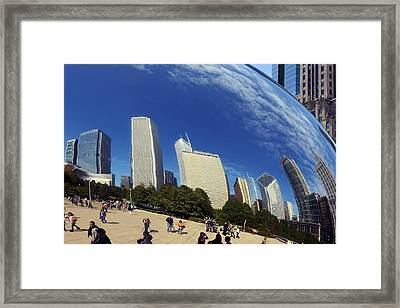 Cloud Gate Millenium Park Chicago Framed Print