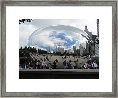 Cloud-gate-one Framed Print by Todd Sherlock