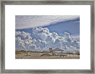 Cloud Merge Framed Print by Deborah Benoit
