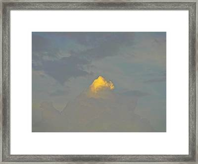 Cloud Of Glory Framed Print by Peter P G
