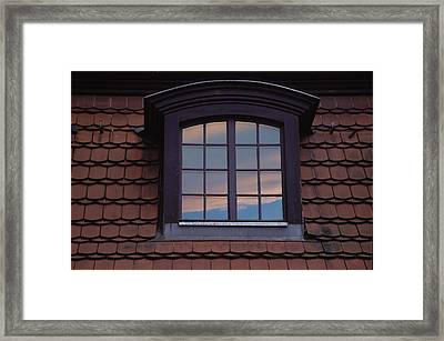 Framed Print featuring the photograph Cloud Reflections by Brent L Ander