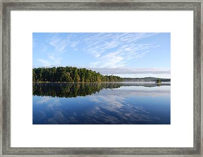 Cloud Reflections Framed Print by Kim French