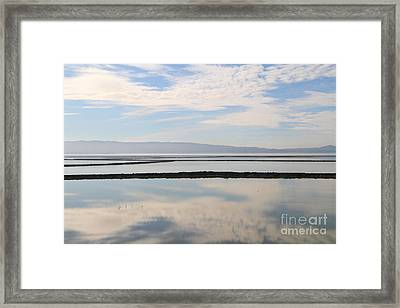 Cloud Reflections On Salt Marsh At Coyote Hills Regional Preserve California . 7d10968 Framed Print by Wingsdomain Art and Photography
