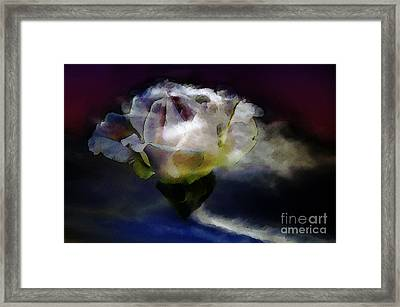 Framed Print featuring the photograph Cloud Rose Painterly by Clayton Bruster