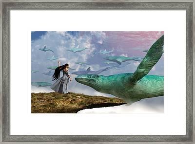 Cloud Whales Framed Print by Daniel Eskridge