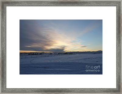 Cloud X Framed Print by A Stamp