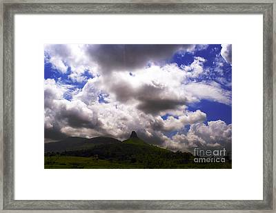Clouded Hills At Nasik India Framed Print by Sumit Mehndiratta