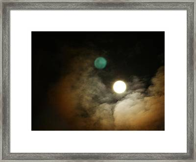 Framed Print featuring the photograph Clouded Moon by Steve Sperry