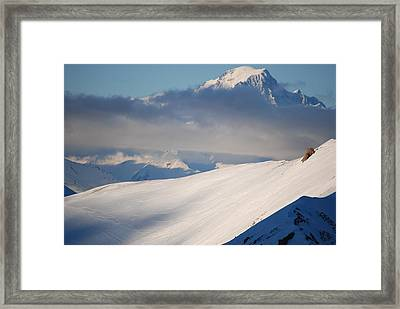 Clouded Mountains Framed Print by Bart Dubelaar