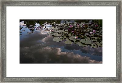 Clouded Pond Framed Print by Mike Reid