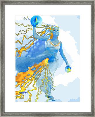 Cloudia Of The Clouds Framed Print by Seth Weaver
