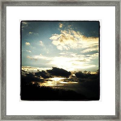 #cloudporn Framed Print by  Abril Andrade Griffith