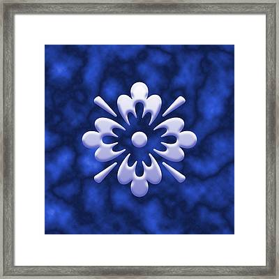 Clouds And Flower Framed Print