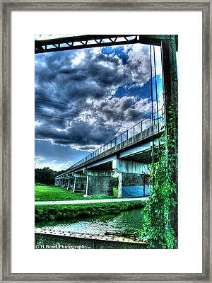 Clouds And Ivy Framed Print by Heather  Boyd
