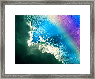 Clouds And Rainbow Colors Framed Print by Susan Leggett